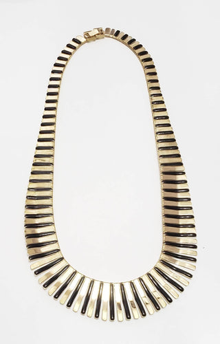 Egyptian Gold and Black Necklace