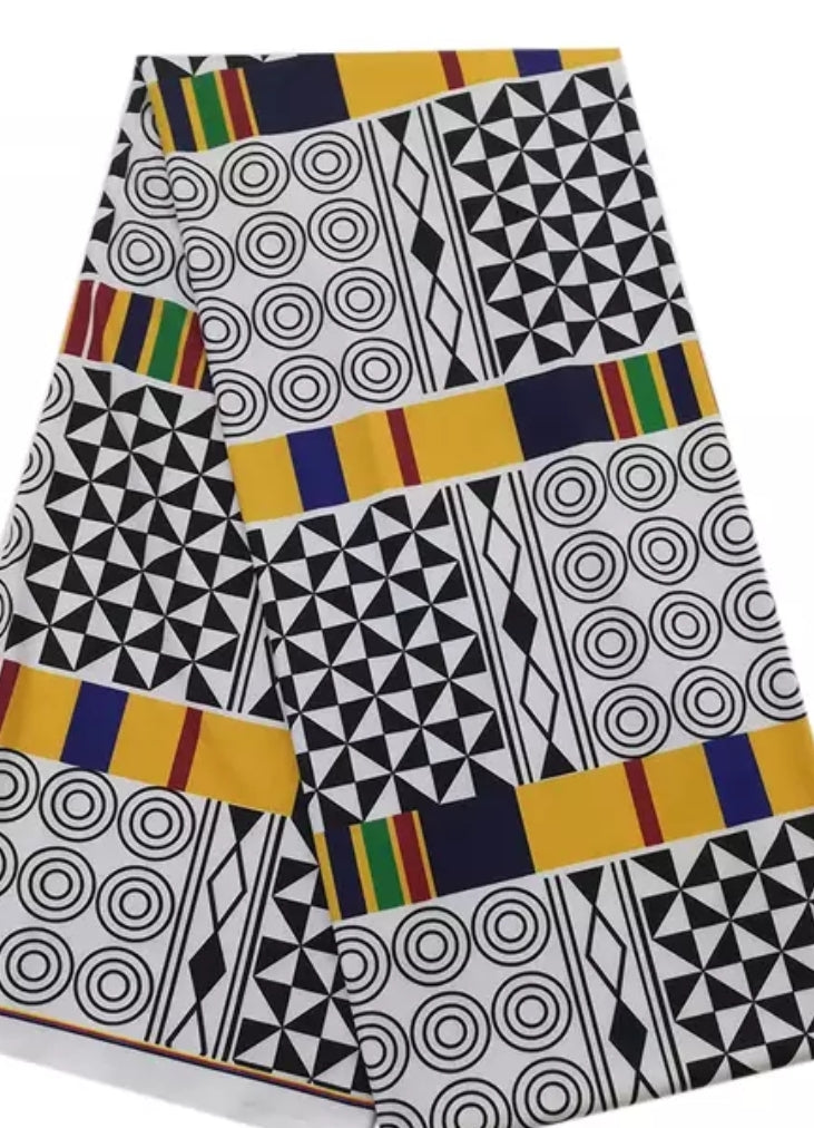 Kente Mix Stretch Ankara Fabric