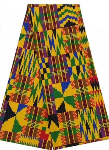Kente Stretch Ankara Fabric