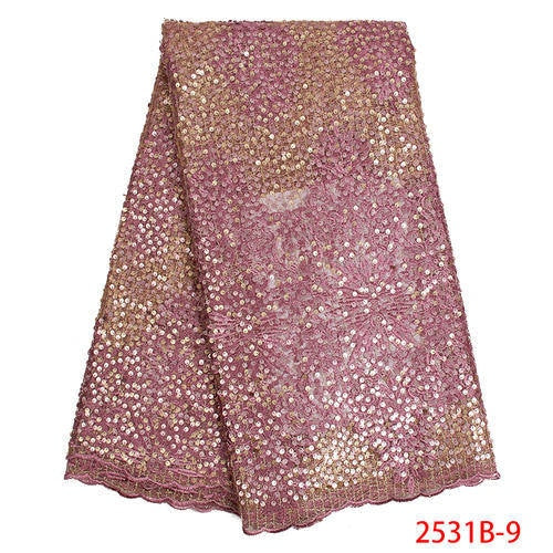 French  Sequin Lace Fabric - Many colors available