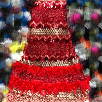 High Quality Tulle Sequins Lace Fabrics - Many colors available
