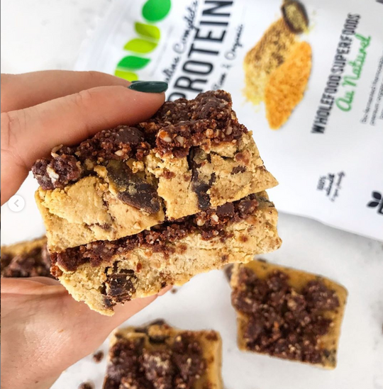 No Bake Cookie Dough Bars (GF, VG, RSF)