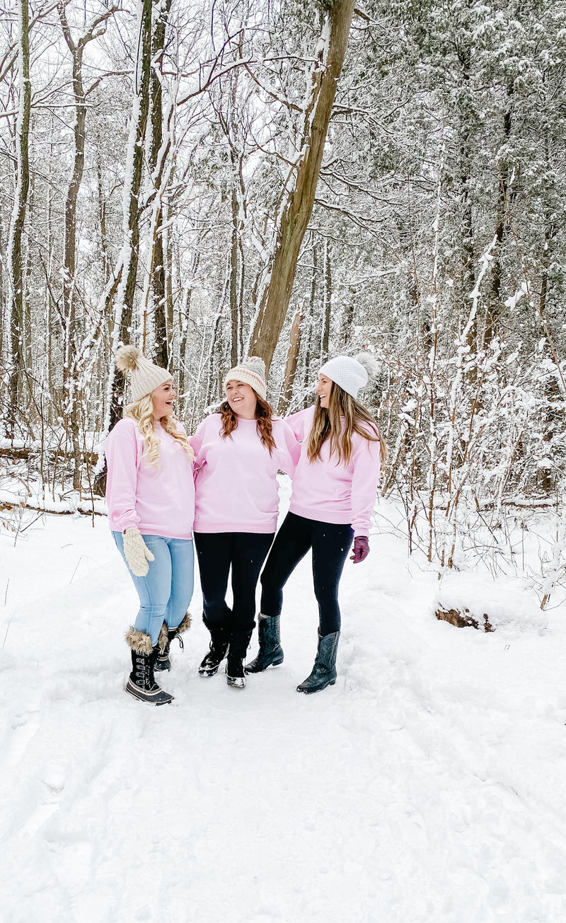 Choose Kindness Pink Crewneck