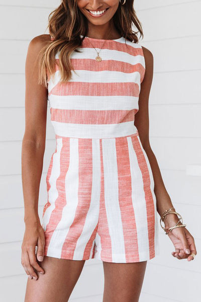 Eavah Sweet Striped Rompers (4 Colors)