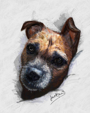 Pastel Portrait - Dog