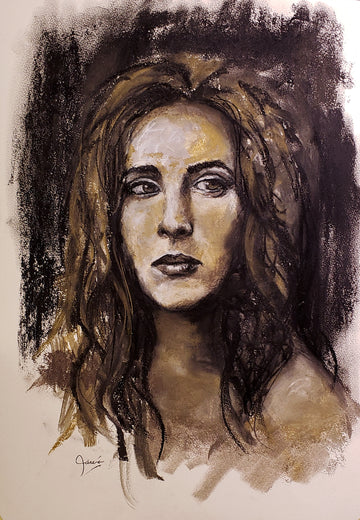expressionist charcoal portrait - thoughts