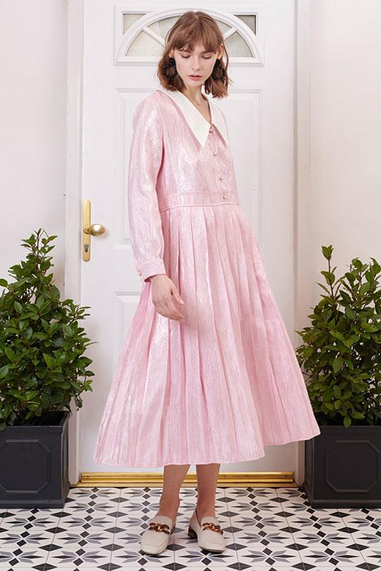 Affection Pleated Midi Dress Clothing Sister Jane