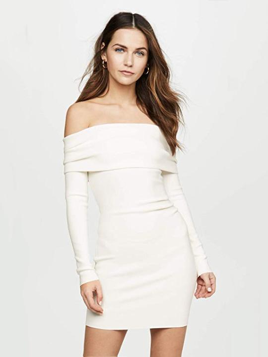 Amelie Off Shoulder Dress Clothing Bec and Bridge