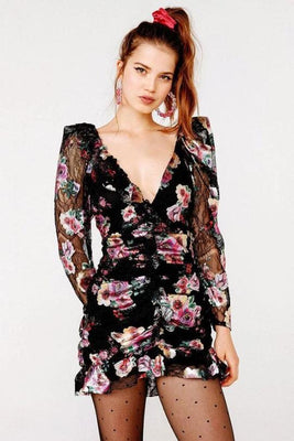 Benatar Ruffle Mini Dress Clothing For Love & Lemons