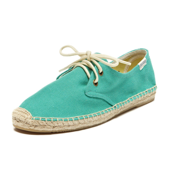 DERBY LACE UP CANVAS ESPADRILLE Shoes Soludos FLA 608-US6 US6