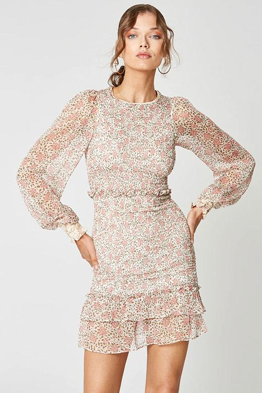 Desert Rose Long Sleeve Dress Clothing Winona