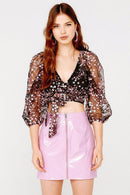 Gibson Wrap Top Clothing For Love & Lemons CT 1482-FA19 XS