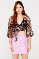 Gibson Wrap Top Clothing For Love & Lemons CT 1482-FA21 M
