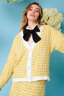 Honey Bee Tweed Cardigan Clothing Sister Jane