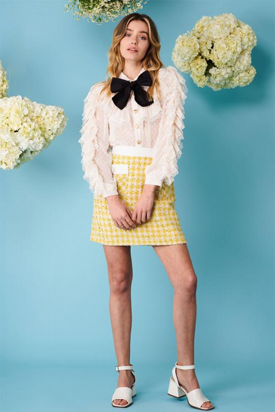 Honey Bee Tweed Mini Skirt Clothing Sister Jane