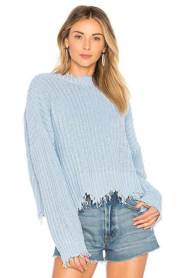 Palmetto Sweater in Blue Clothing Wildfox WLX090000-Blue-XS XS