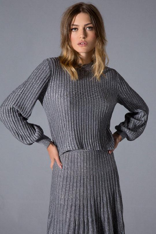 Silver Bell Sleeve Top Clothing Iorane