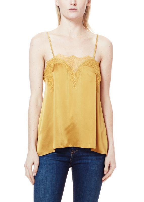 The Racer Charmeuse in Gold Clothing Cami NYC