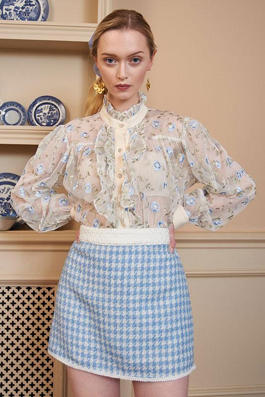 Toffee Vine Embroidered Blouse Clothing Sister Jane