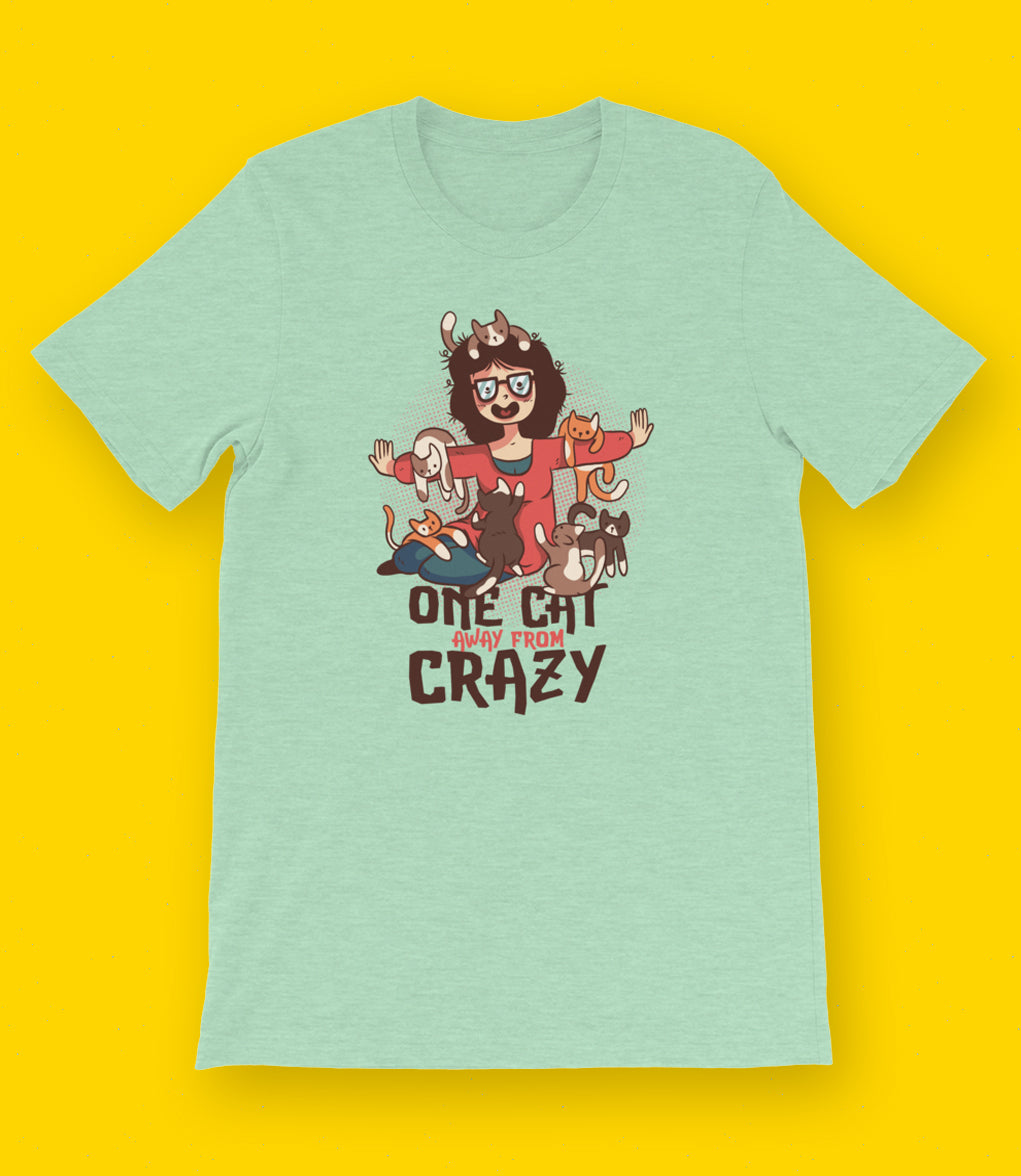 Short-Sleeve Crazy Cat T-Shirt