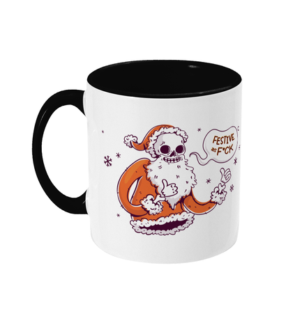 Two Toned Mug Festive as Fuck