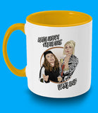 Absolutely Fabulous yellow mug