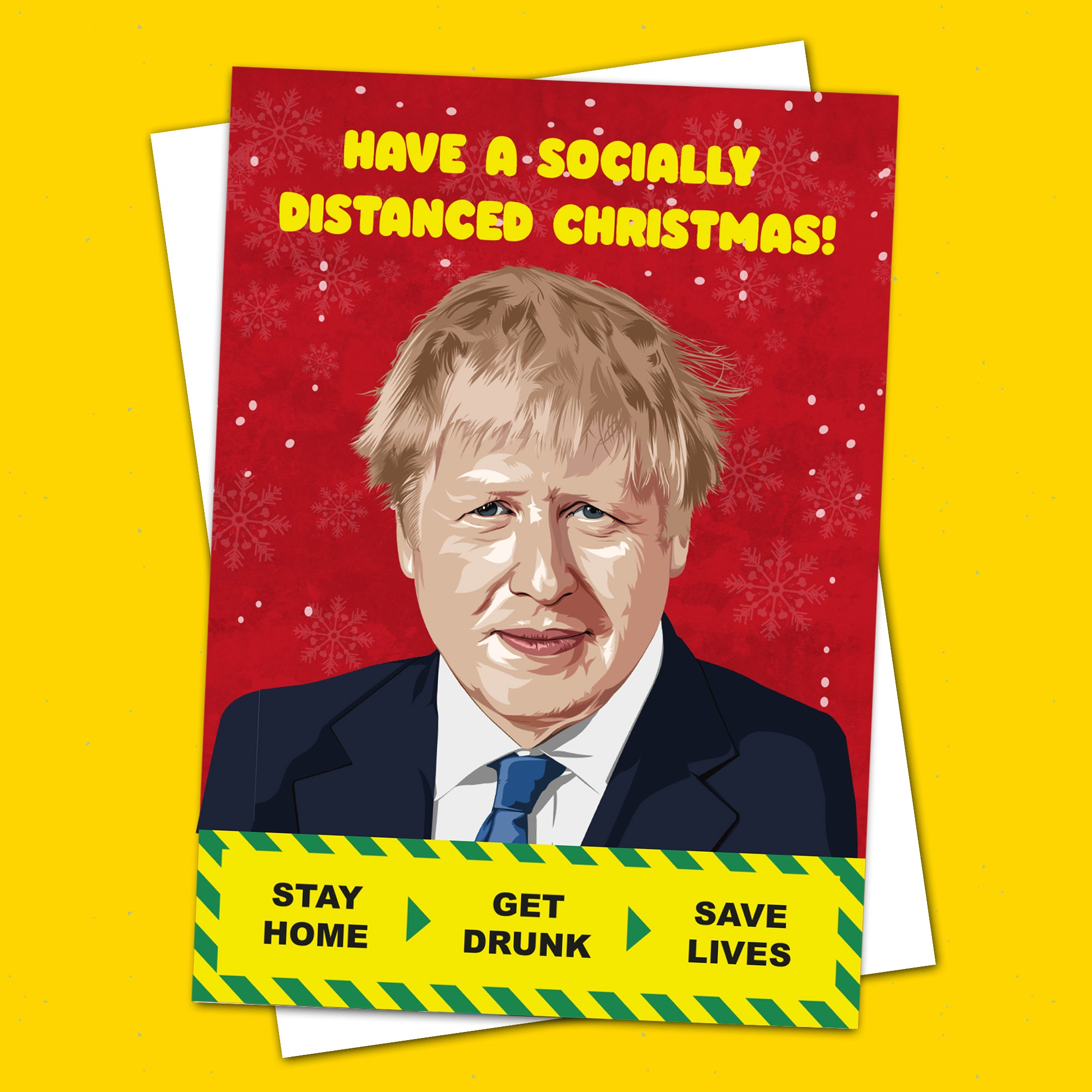 Boris Johnson Socially Distance Christmas Card