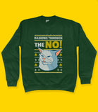 Cat Meme Christmas Sweatshirt