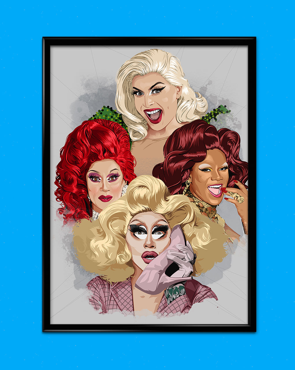 Drag Queen Rupaul Collage Matt Print
