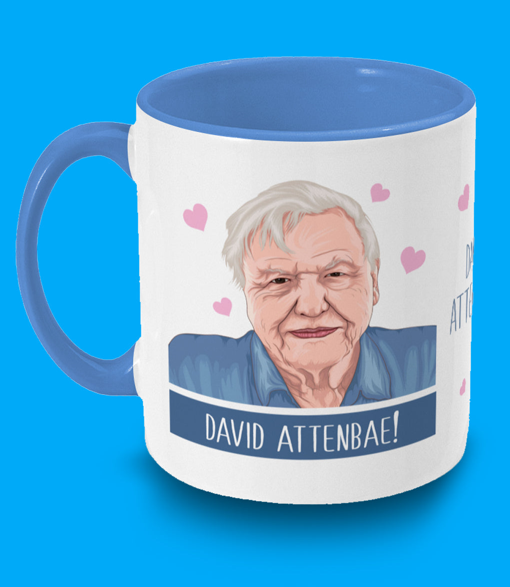 David Attenbae Two Toned Mug