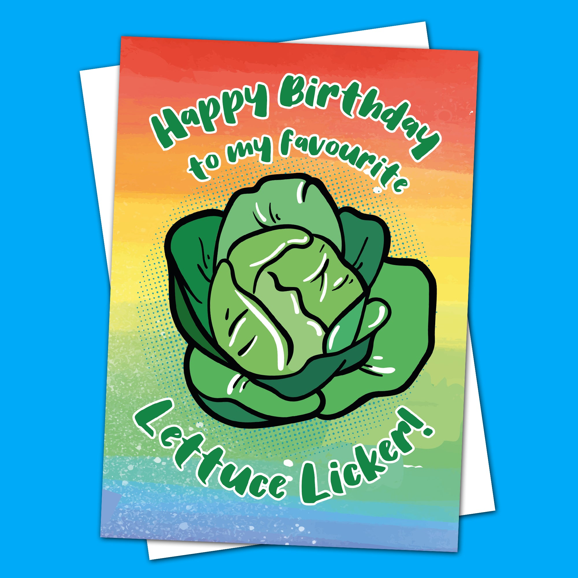 Happy Birthday Lettuce Licker Card Greeting Card