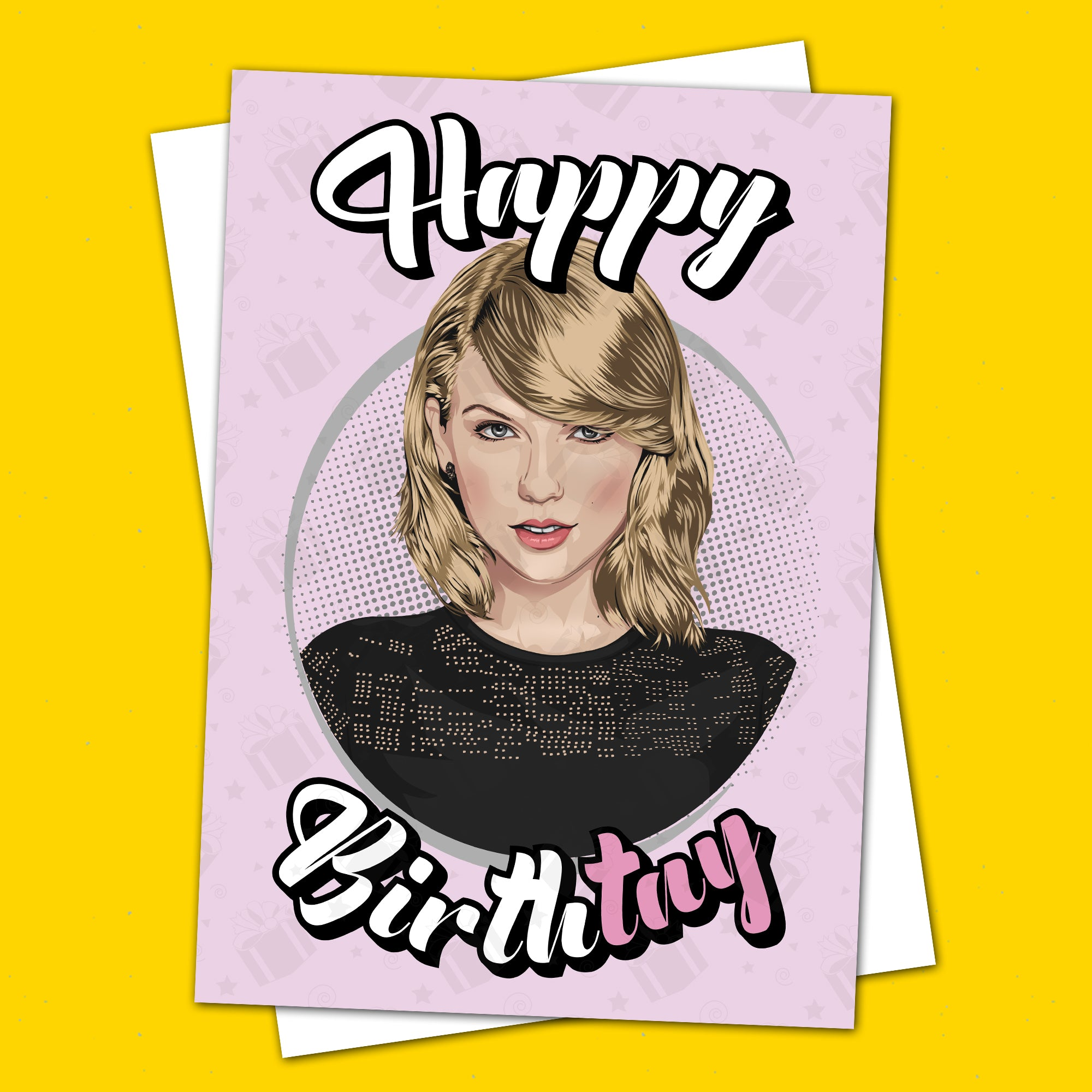 Taylor Swift Birthday Card