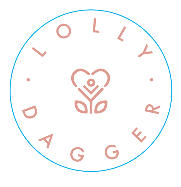 Lolly Dagger - Pink Circle Sticker-Stickers-LollyDagger