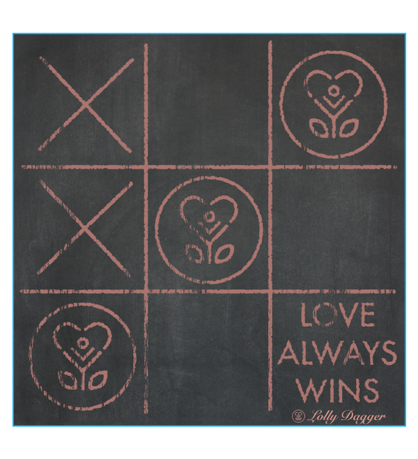 Love Always Wins - Tic-Tac-Toe Sticker-Stickers-LollyDagger