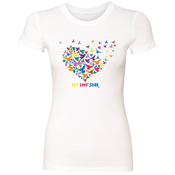 Let Love Soar - Multi-Colored Birds-T-Shirts-LollyDagger