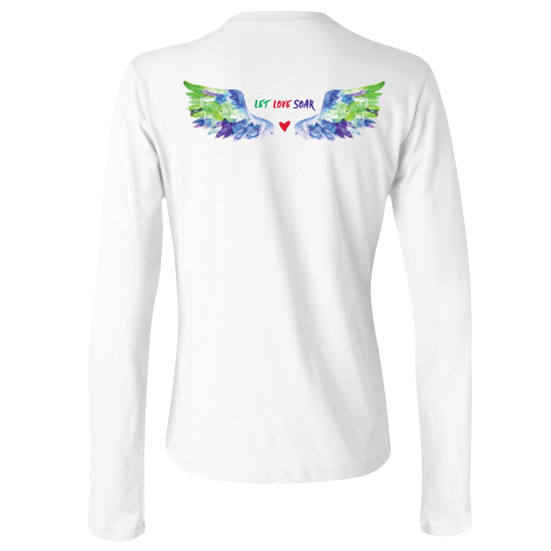 Let Love Soar - Multi-Colored Wings-Long Sleeve T-Shirts-LollyDagger