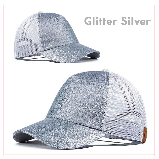 552cce55d Colorful Glitter Ponytail Snapback Baseball Cap/Hat