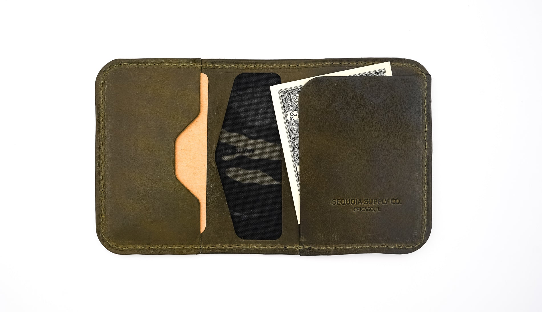Pine Wallet - Olive - Sequoia Supply Co.