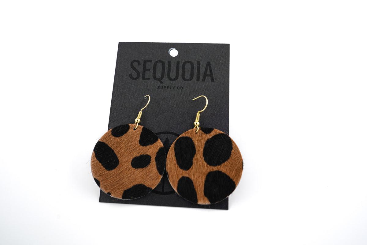 One Hour Earring - Cheetah/Circle - Sequoia Supply Co.