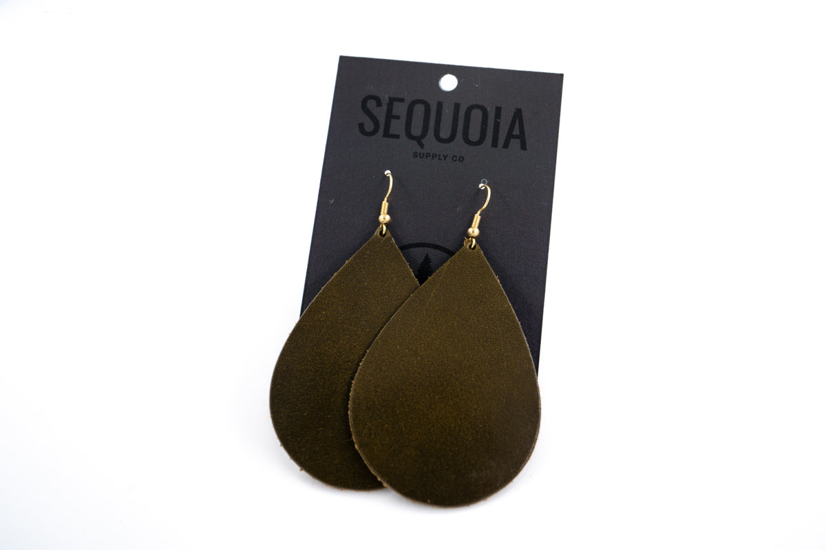 One Hour Earring - Olive/Teardrop - Sequoia Supply Co.
