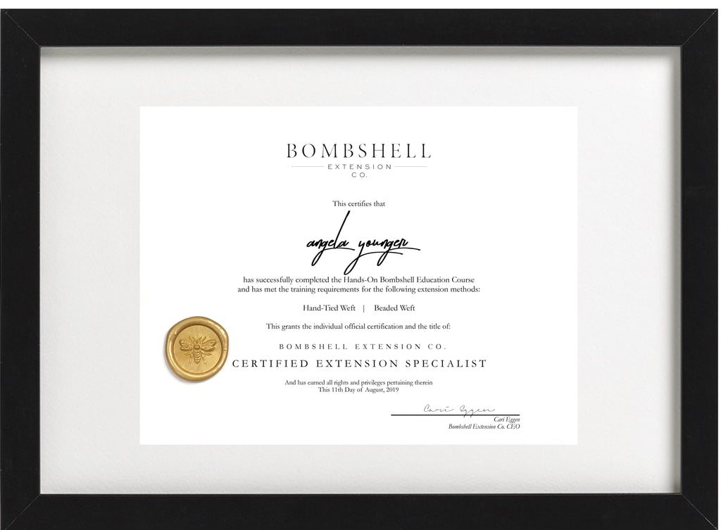 Bombshell Certificate (for verified students only)