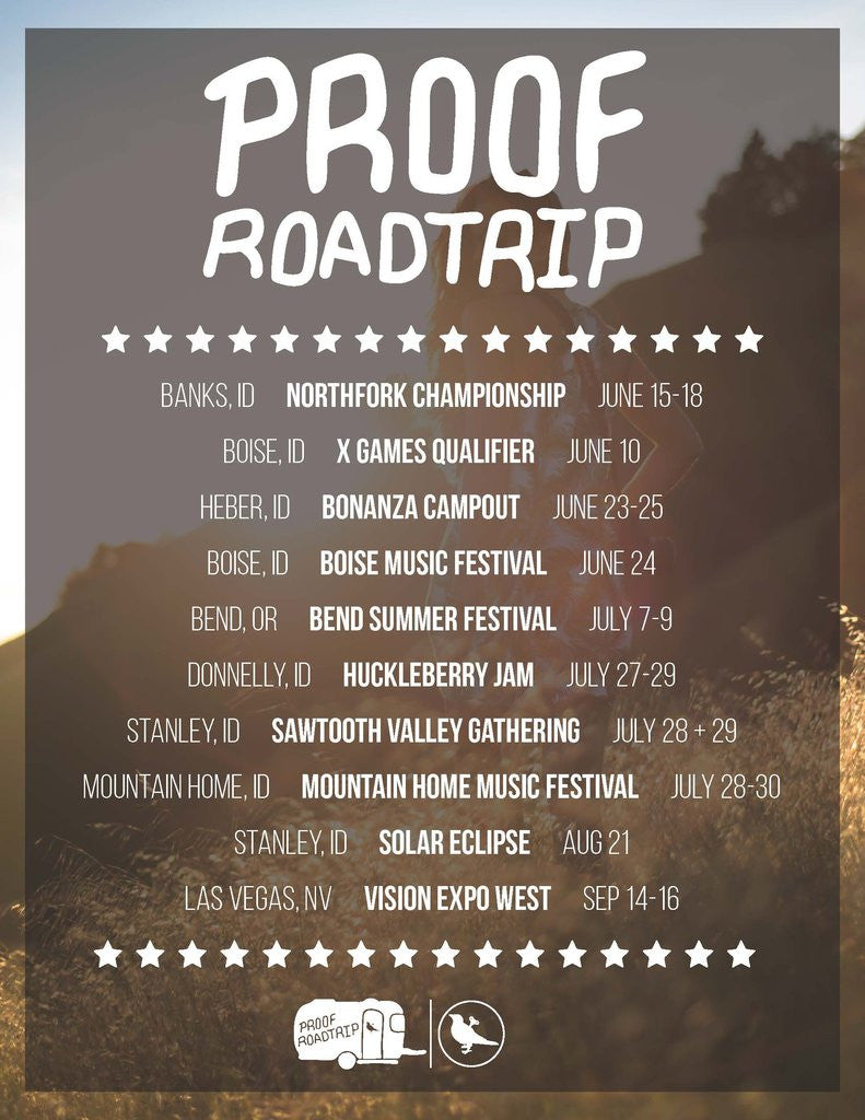 Proof Eyewear Roadtrip Summer 2017 Events and Festivals