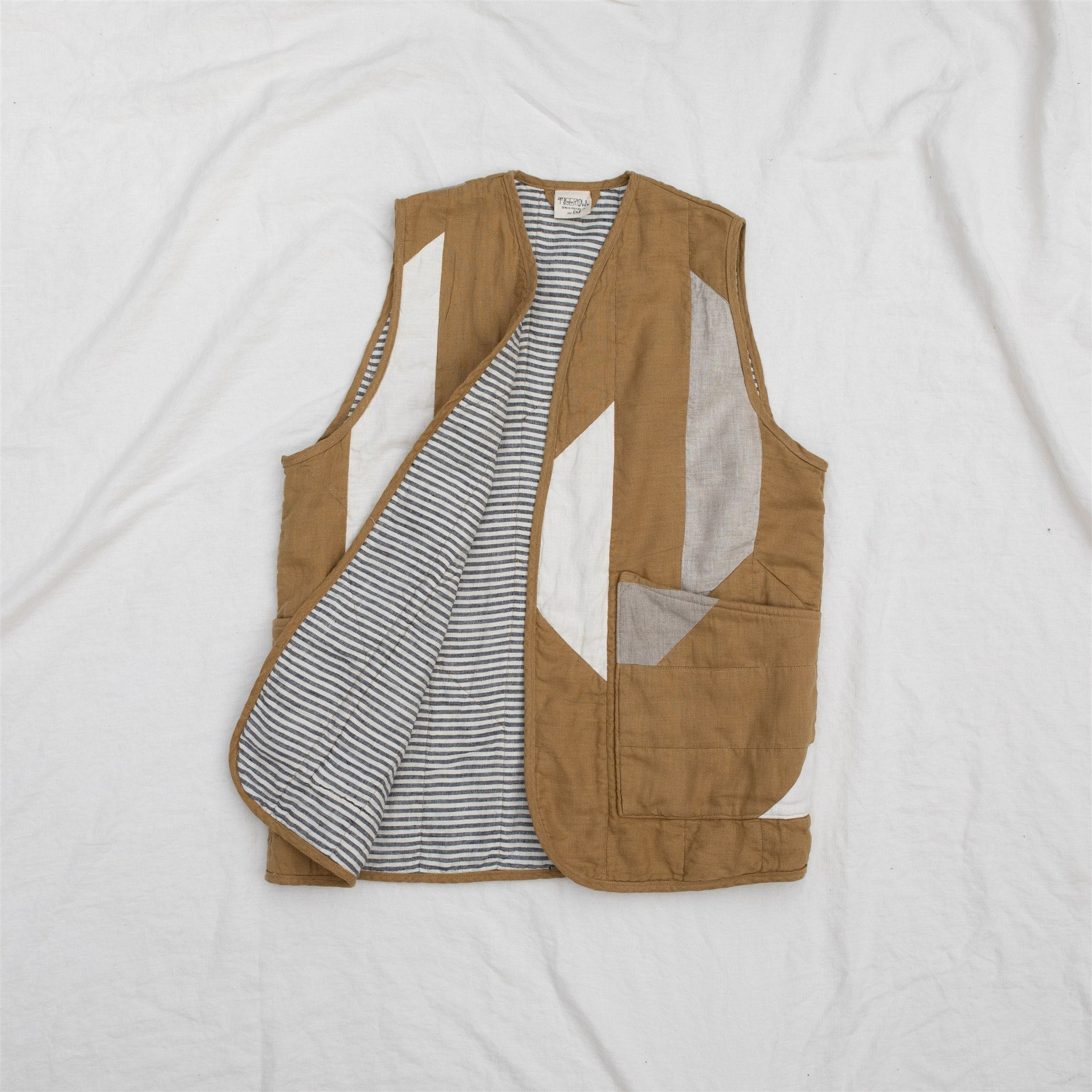 QUILTED VEST SIZE ONE / DIJON