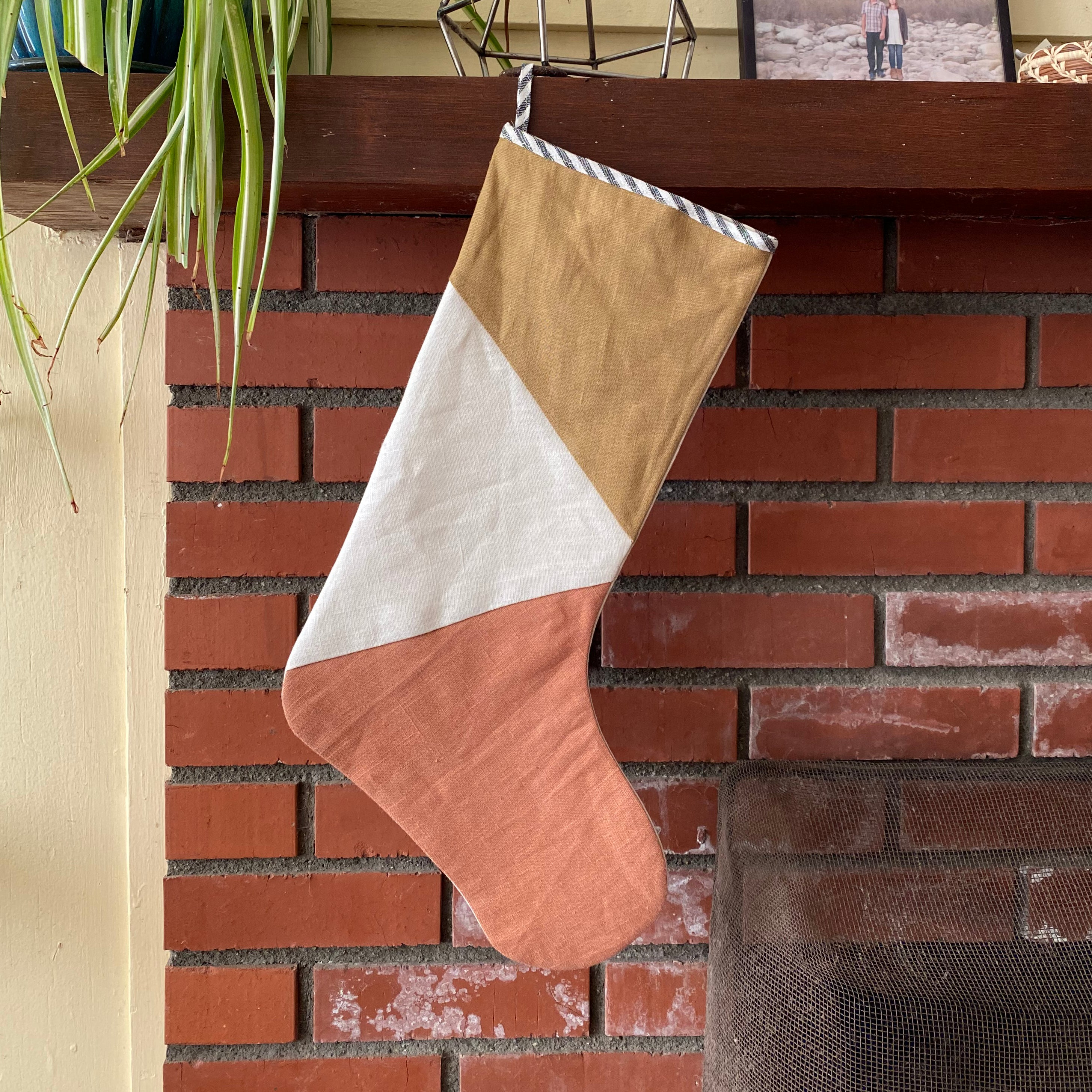 HOLIDAY STOCKING / CLAY + DIJON