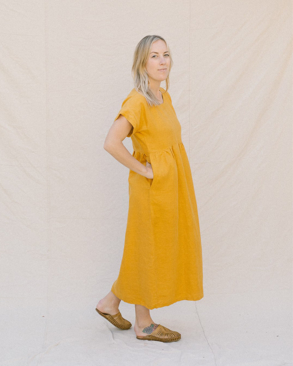 GRACE DRESS / MARIGOLD