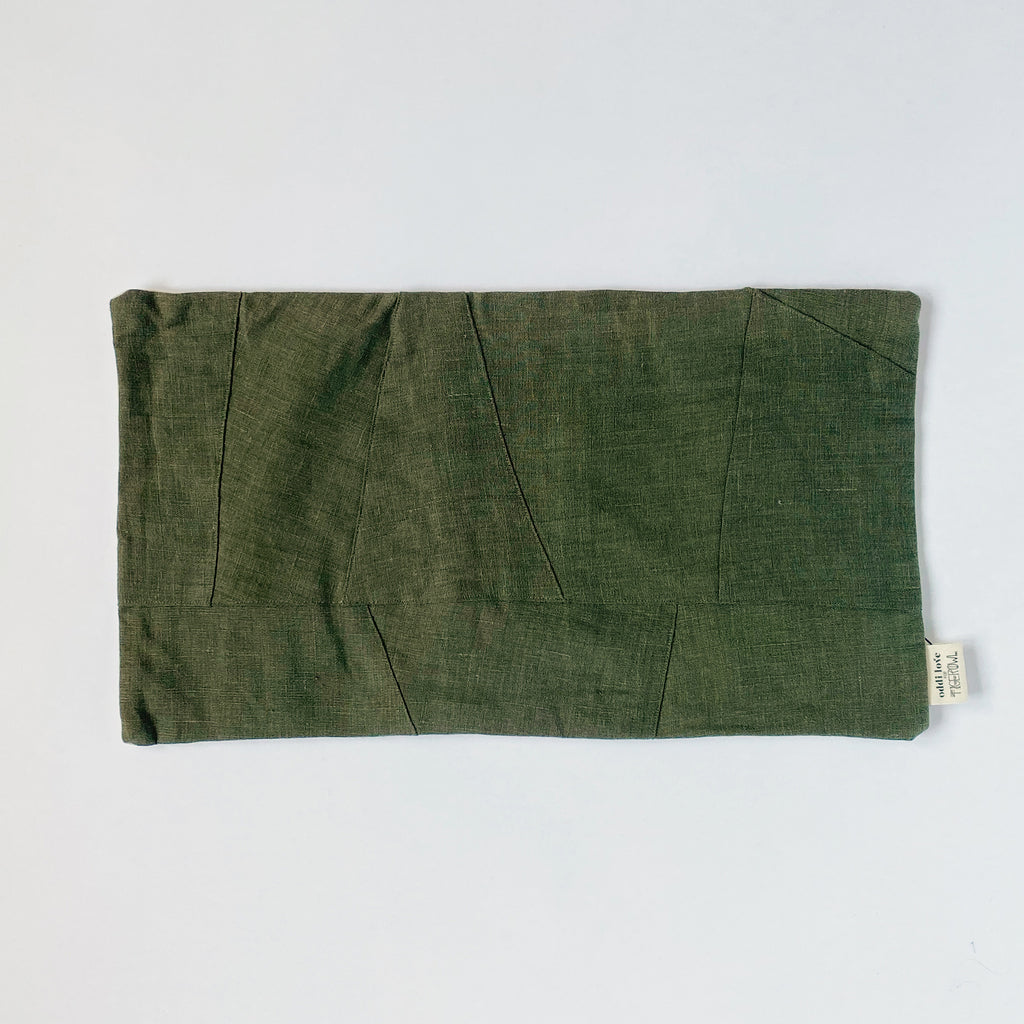 PILLOW SHAM / OLIVE LUMBAR