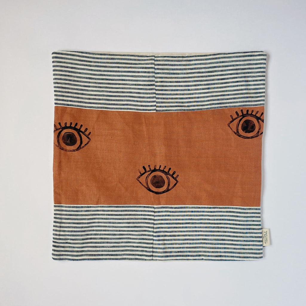 PILLOW SHAM / TERRA-COTTA EYE