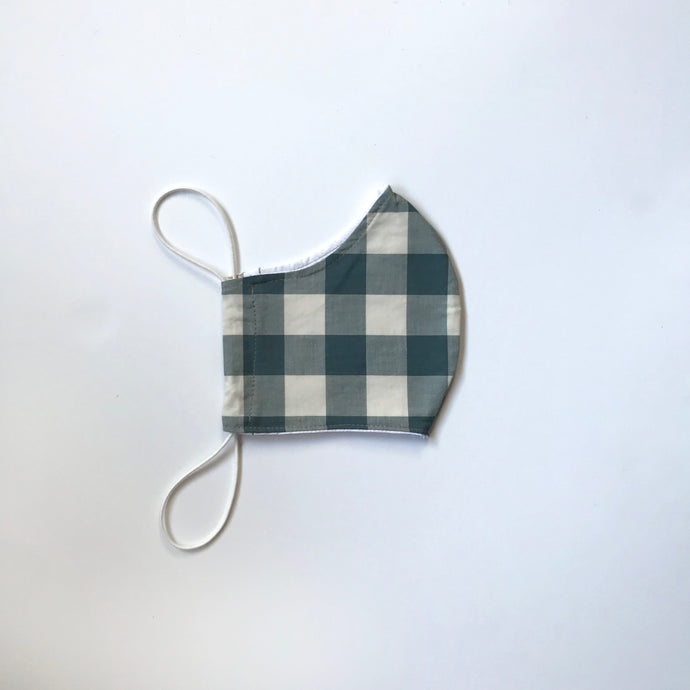 SAGE PLAID FACE MASK