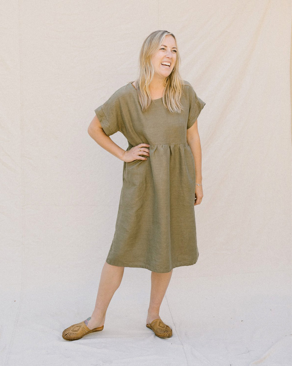 GRACE DRESS SHORT / SAGE