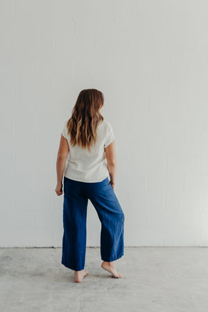 EASY SAILOR PANTS / INDIGO LINEN